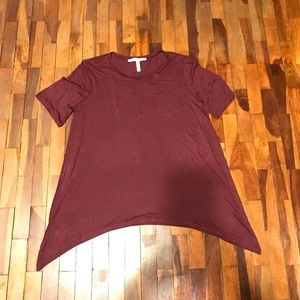 Burgundy short sleeve shirt
